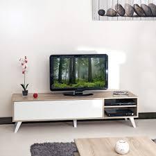 meuble deco design sopra meuble tv style scandinave chene blanc et meuble télé
