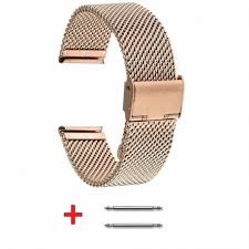 rose gold stainless steel bracelet images Tiny mesh 18mm stainless steel bracelet rose gold plated adjustable jpg