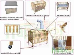 foldable and wooden baby crib 802a