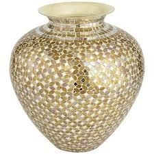 Mosiac Vase Pier 1 Imports Gold U0026 Silver Mosaic Vase Short Polyvore