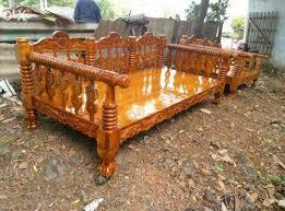 M Chandru Brand New Teak Wood Sofa Set Manufacturer From Chennai - Teak wood sofa sets