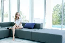modular sofa contemporary garden water repellent fabric