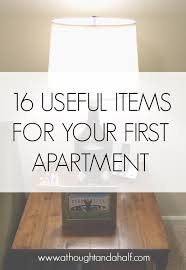 first appartment 16 useful items for your first apartment a thought and a half