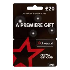 20 gift card cineworld 20 gift card at wilko