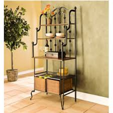 bakers rack with cabinet bakers racks metal wood wrought iron bakers racks available