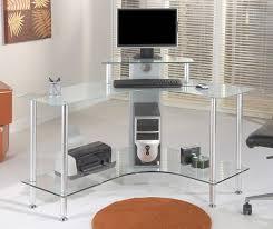 Computer Inside Glass Desk Interesting Modern Corner Computer Desk White In Design Inspiration