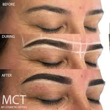 New Eyebrow Tattoo Technique Eyebrow Tattoo Feathering My Cosmetic Tattoo
