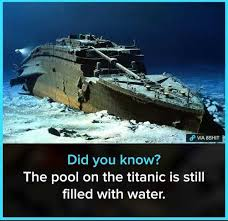 Pool Meme - dopl3r com memes did you know the pool on the titanic is still