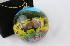 csp painted glass ornament custer state park resort