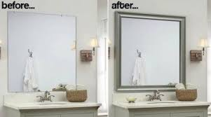 Framed Bathroom Mirrors Ideas Staggering Bathroom Wall Mirrors Framing Mirror Ideas Pictures Of