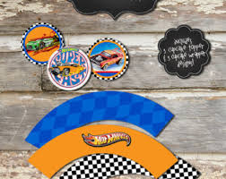 hot wheels cake toppers hot wheels printable etsy
