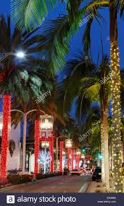 beverly hills christmas lights rodeo drive beverly hills los angeles californa during christmas