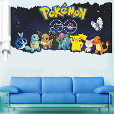 details about pokemon pocket monster pikachu mural wall sticker details about pokemon pocket monster pikachu mural wall sticker decal kid room decor