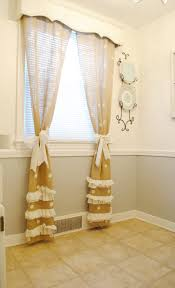 Burlap For Curtains Diy Polka Dot Burlap Curtains Classy Clutter