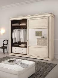 shabby chic wooden wardrobe with sliding doors gastone colours