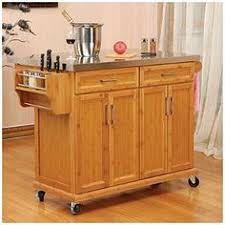 kitchen islands with stainless steel tops black finish sliding door kitchen cart with stainless steel top at