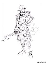 dark elf rough sketch by bangawman on deviantart