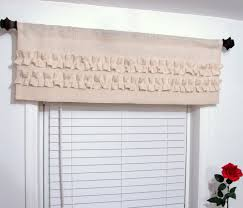 ruffled burlap valance ivory off white custom sizing