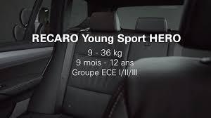 siege auto recaro castle recaro sport comment installer le siège auto