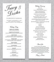 programs for a wedding ceremony wedding ceremony program template 31 word pdf psd indesign
