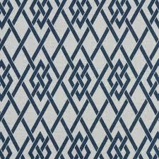 navy blue white trellis upholstery fabric blue geometric linen