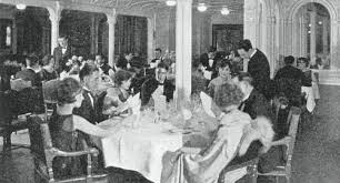 titanic first class dining room aboard the titanic