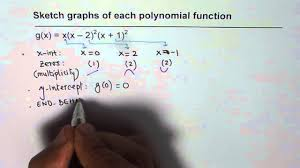 sketch polynomial graph given multiplicity of zeros youtube