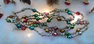 fancy vintage mercury glass bead tree garland