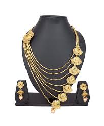 copper necklace set images Pankh copper kundan and diamond golden necklace set jpg