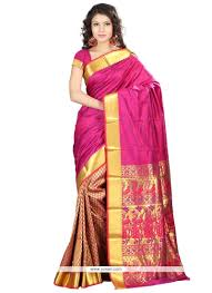 resplendent weaving work art silk traditional saree model