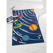 Children Rugs Flair Rugs Matrix Kiddy Planets Rug Multi 80 X 120 Cm Amazon Co
