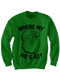 christmas shirts christmas sweater where my ho s at santa claus shirt cool