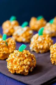 Rice Crispy Treat Pumpkins Recipe Halloween Popcorn Balls
