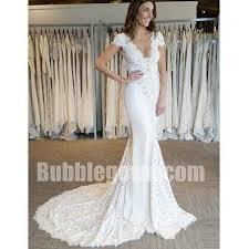 cap sleeve wedding dress cap sleeves v neck lace mermaid wedding dresses