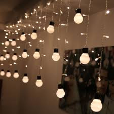 Ceiling Light Decorations Led Bulb Icicle String Lights Warm White Wedding