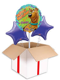 birthday helium balloons scooby doo happy birthday balloon delivered inflated in uk