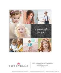 gift certificate card template photography templates g112