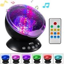 sound machine with light projector ocean wave projector night light projector lbell sleep sound