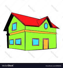 two storey house two storey house icon icon cartoon royalty free vector image