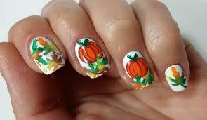 easy thanksgiving pumpkin nail design