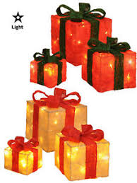 Decorative Christmas Boxes Light Up by Set Of 3 Led Gift Boxes Decorations Light Up Christmas Xmas