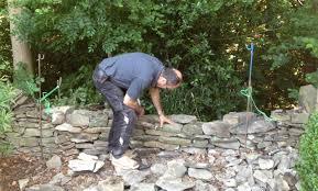 garden walls stone dry stone wall woodenhenk