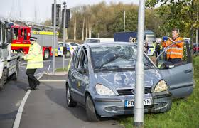 casualty treated after crash at greenbridge roundabout south