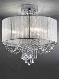 crystal semi flush mount lighting ceiling lights awesome flush chandelier ceiling lights modern