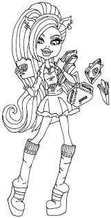 coloring pages for girls monster high chuckbutt com