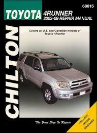 toyota 4runner repair toyota 4runner repair service manual 2003 2009 chilton 68615