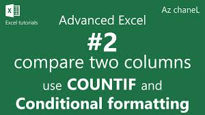advanced excel tutorial how to compare two columns in excel for