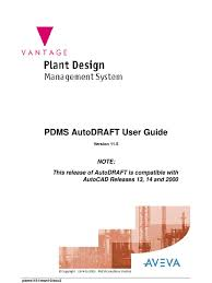 11 pdms autodraft user guide auto cad license