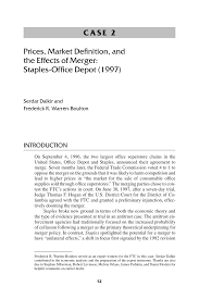 prices market definition and the effects of merger staples
