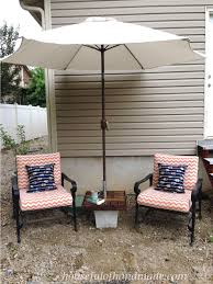 Diy Patio Umbrella Stand Make Your Own Umbrella Stand Side Table A Houseful Of Handmade